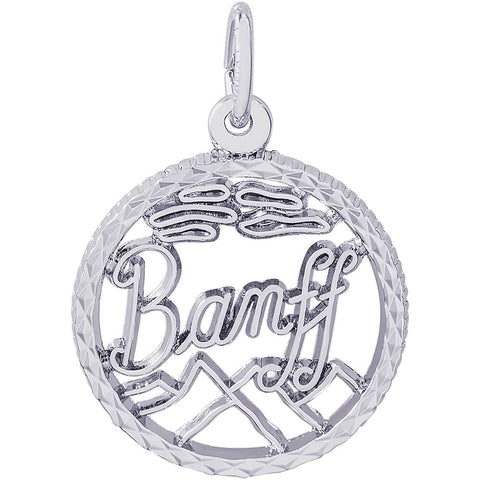 Banff Diamond Faceted Disc Charm