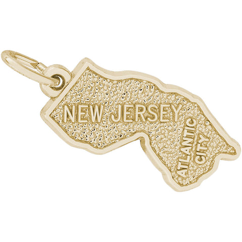 Atlantic City New Jersey Map Charm