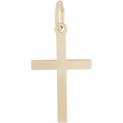 Medium Plain Cross Charm