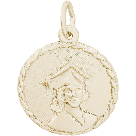 Female Graduate Rope Disc Charm