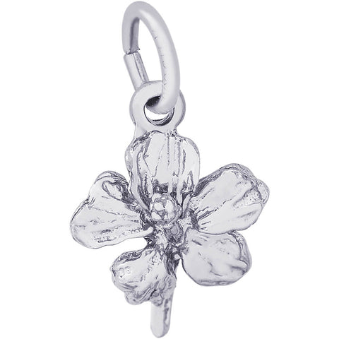 Hibiscus Flower Accent Charm
