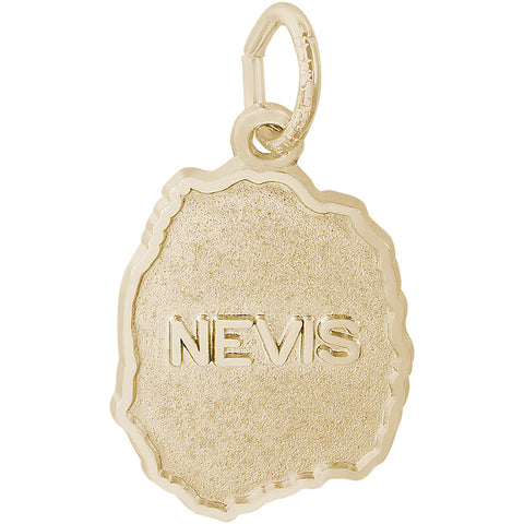 Nevis Map Charm