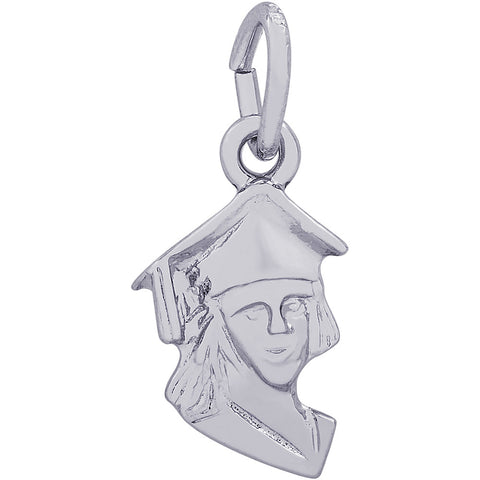 Female Graduate Head Accent Charm