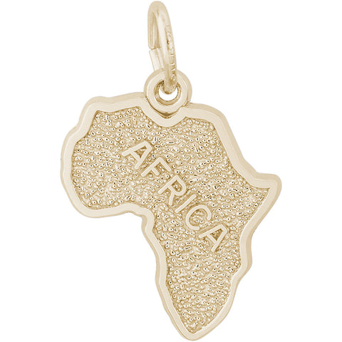 Africa Map Charm
