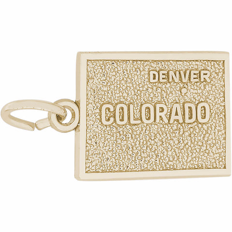 Denver Colorado Map Charm