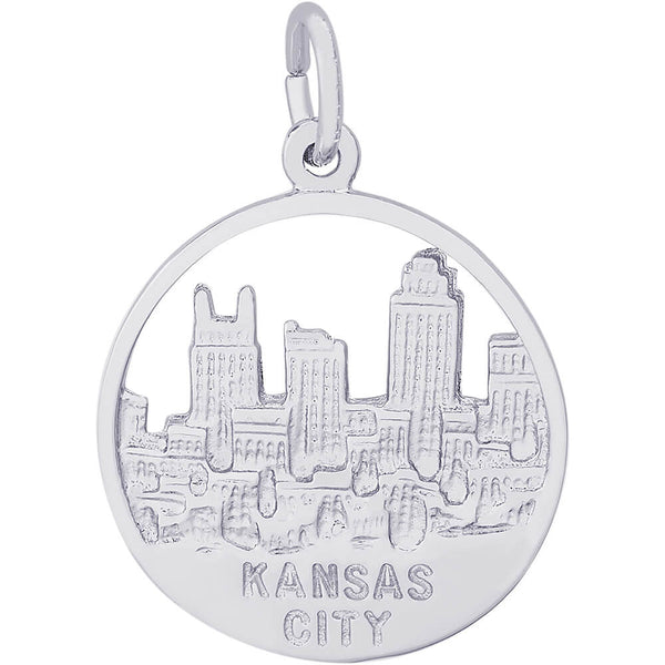 Kansas City Skyline Open Disc Charm