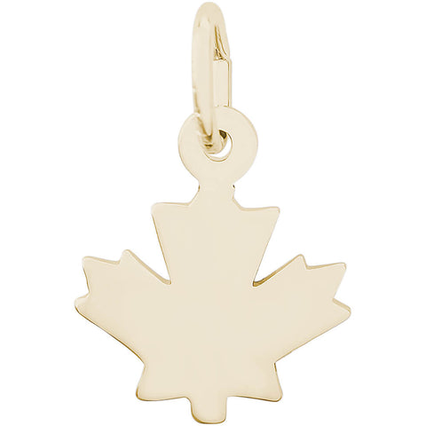 Flat Maple Leaf Accent Charm