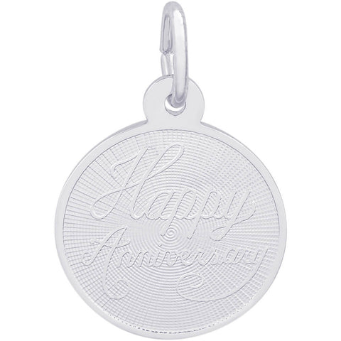Small Happy Anniversary Disc Charm