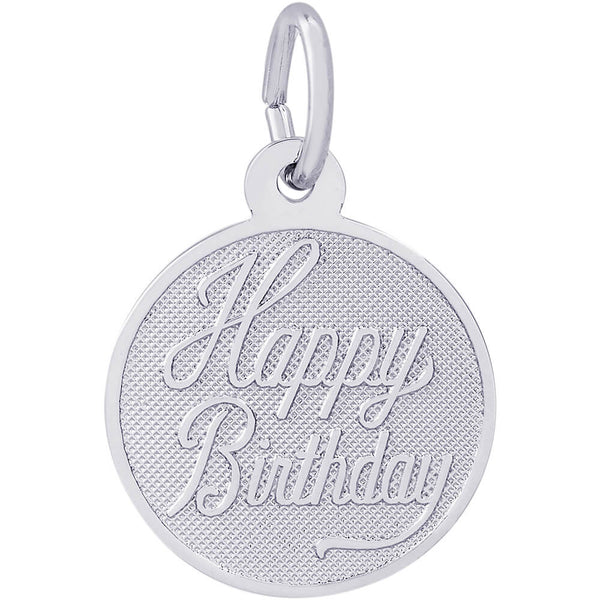 Small Happy Birthday Disc Charm