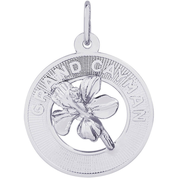 Grand Cayman Hibiscus Ring Charm