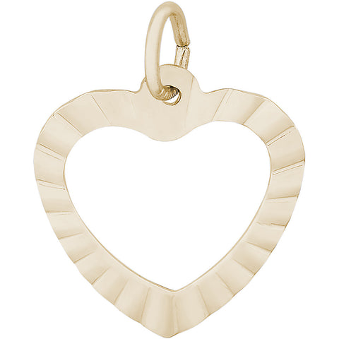 Ruffled Heart Charm
