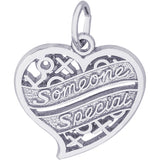 Someone Special Hugs & Kisses Heart Charm - Rembrandt Charms - 1