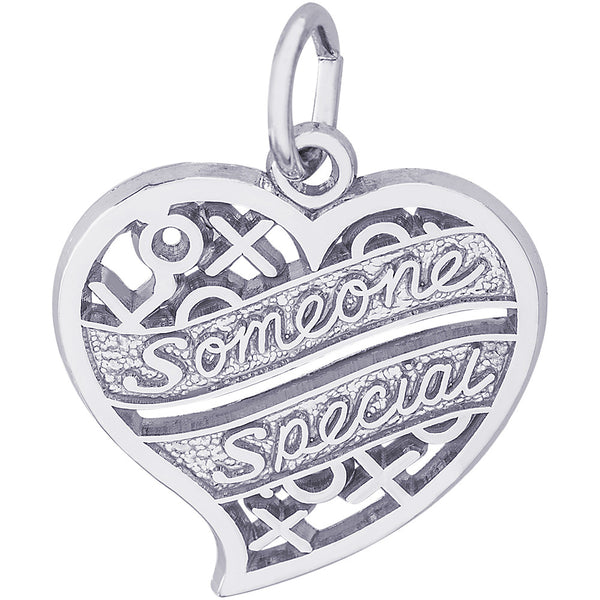 Someone Special Hugs & Kisses Heart Charm