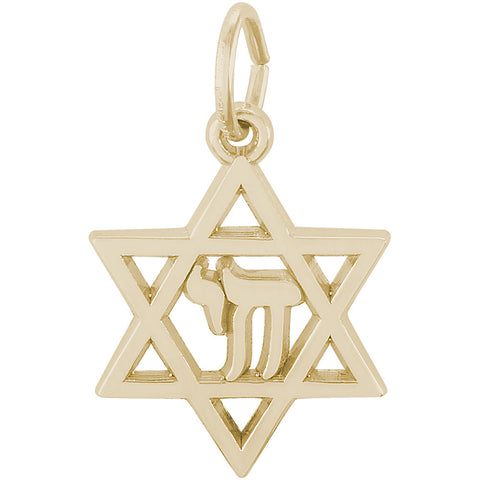 Chai Star Of David Charm