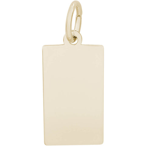 Small Rectangle Dog Tag Charm