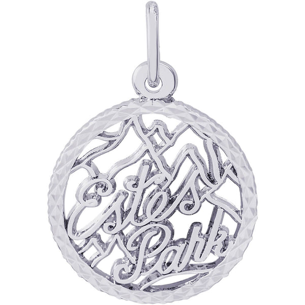 Estes Park Diamond Faceted Disc Charm