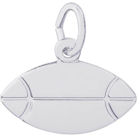 Flat Rugby Ball Charm