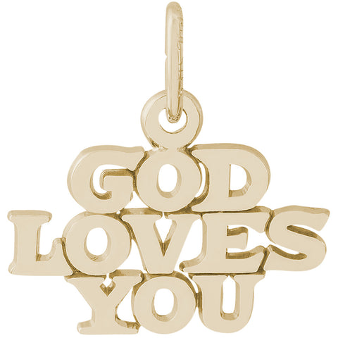 God Loves You Charm