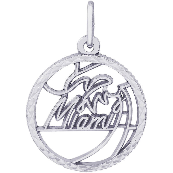 Miami Diamond Faceted Disc Charm