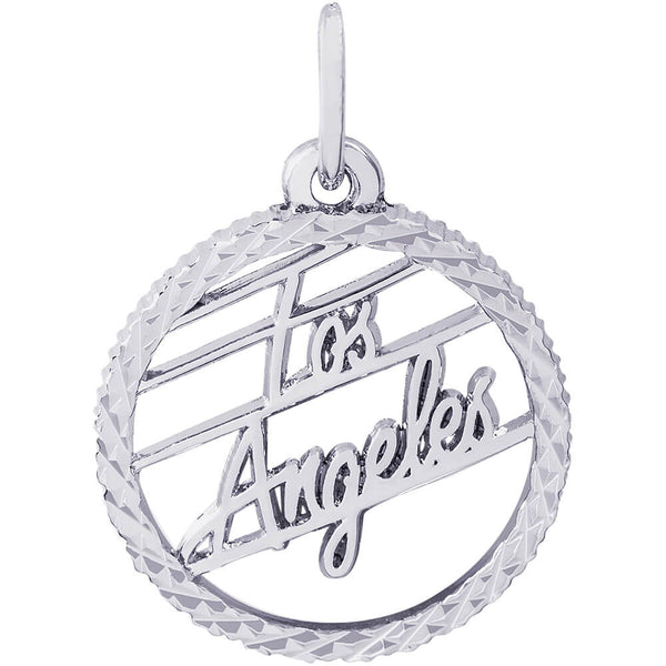 Los Angeles Diamond Faceted Disc Charm