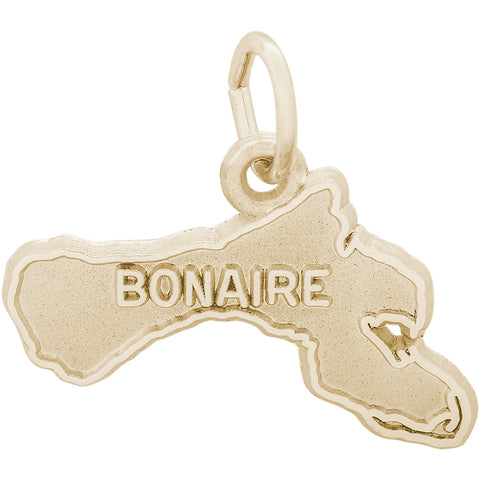 Bonaire Map Charm