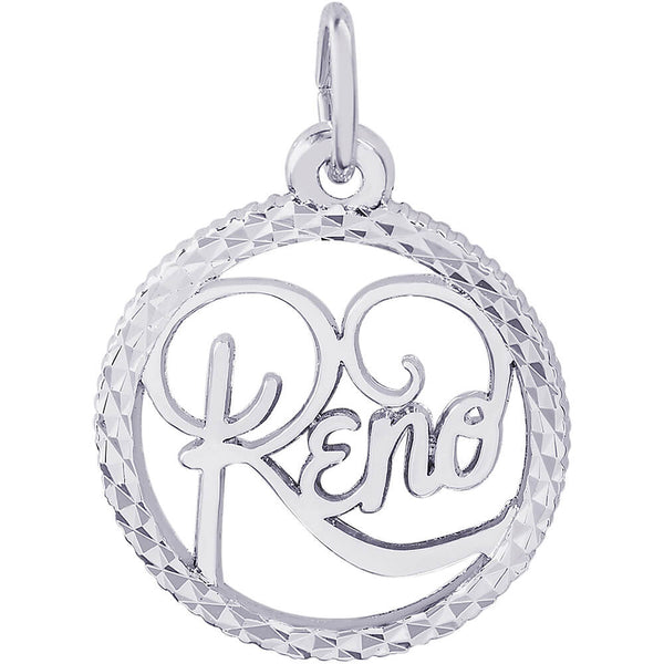 Reno Diamond Faceted Disc Charm