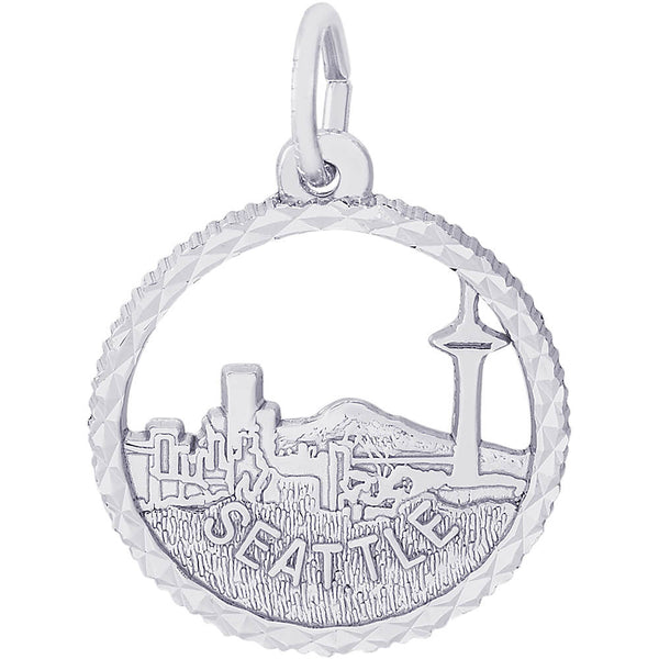 Seattle Skyline Open Disc Charm