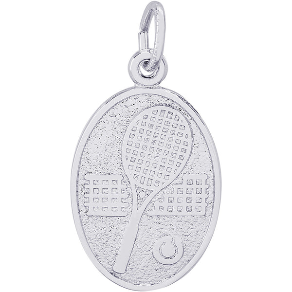 Tennis Oval Disc Charm