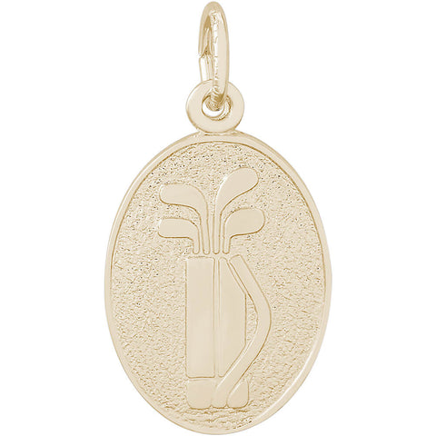 Golf Clubs Oval Disc Charm