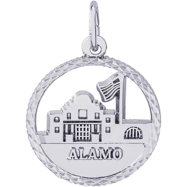 The Alamo Diamond Faceted Disc Charm