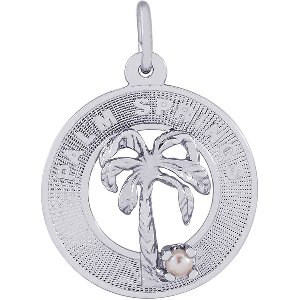 Palm Springs Palm Tree Ring Charm