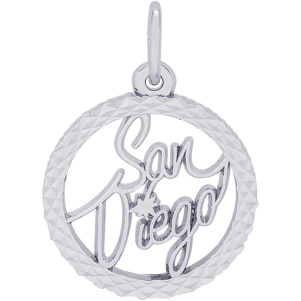 San Diego Diamond Faceted Disc Charm