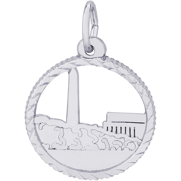 Washington Monument Open Disc Charm