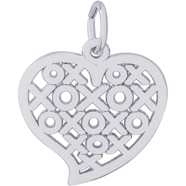 Hugs & Kisses Heart Charm