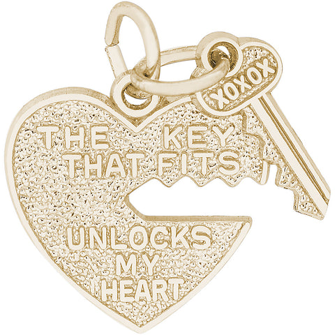Key That Fits Heart Charm