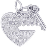 Key That Fits Heart Charm - Rembrandt Charms - 1