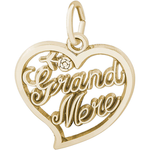 Grand Mere Open Heart Charm
