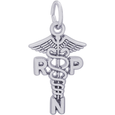 Registered Practical Nurse Caduceus Charm