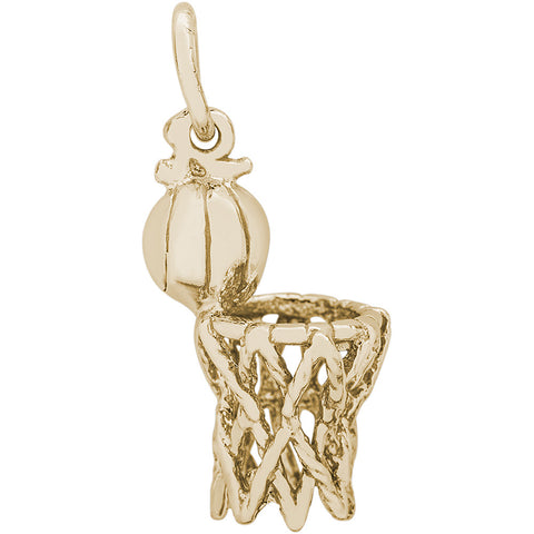 Basketball Hoop & Net Charm