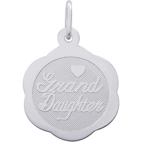 Granddaughter Scalloped Disc Charm