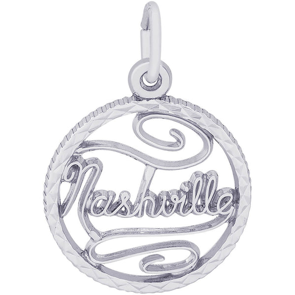 Nashville Diamond Faceted Disc Charm