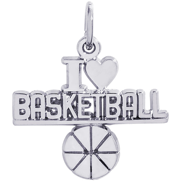 I Love Basketball Charm