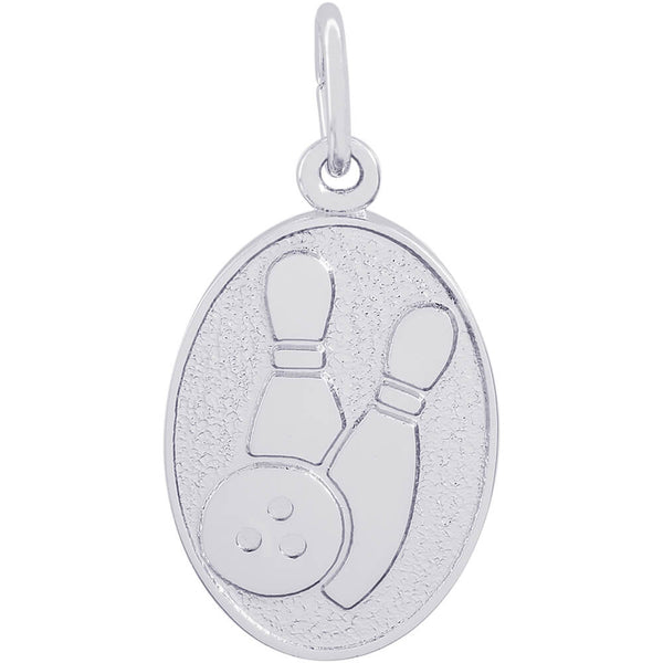 Bowling Oval Disc Charm