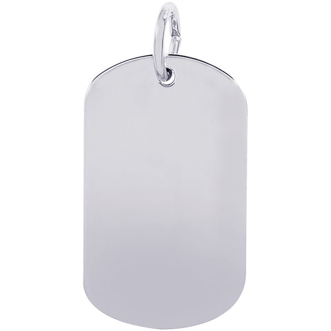 Small Dog Tag Charm