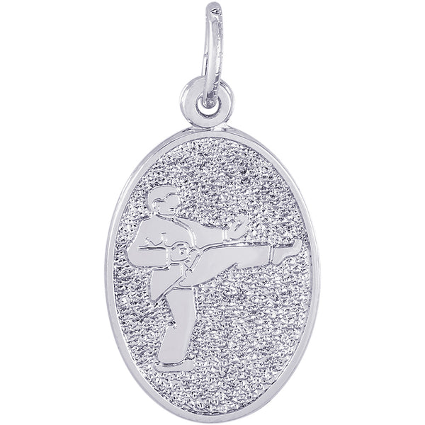 Martial Arts Oval Disc Charm