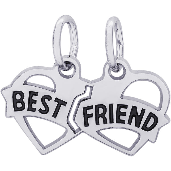 Best Friend Hearts Charm