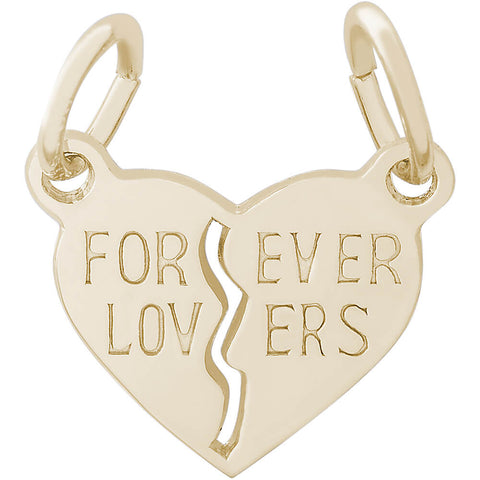 Forever Lovers Break Apart Heart Charm