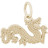 Flat Chinese Serpent Dragon Charm - Rembrandt Charms - 2