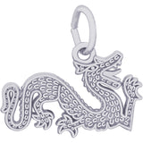 Flat Chinese Serpent Dragon Charm - Rembrandt Charms - 1