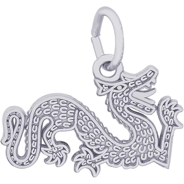 Flat Chinese Serpent Dragon Charm